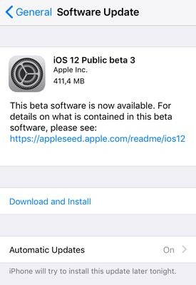 Cara Download iOS 12 Public Beta 3