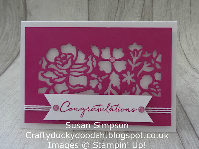 Stampin' Up! UK Independent  Demonstrator Susan Simpson, Craftyduckydoodah!, Detailed Floral Thinlets, Floral Phrases, June 2017 Coffee & Cards Project, Supplies available 24/7 from my online store,