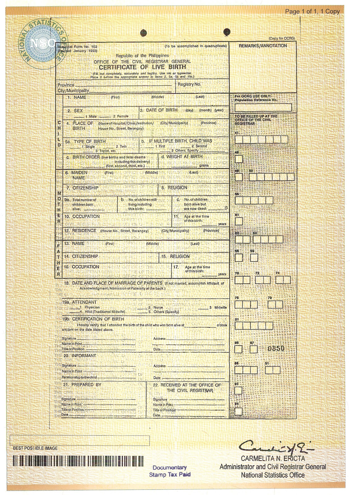 Online Certification How To Order Birth Certificate Online