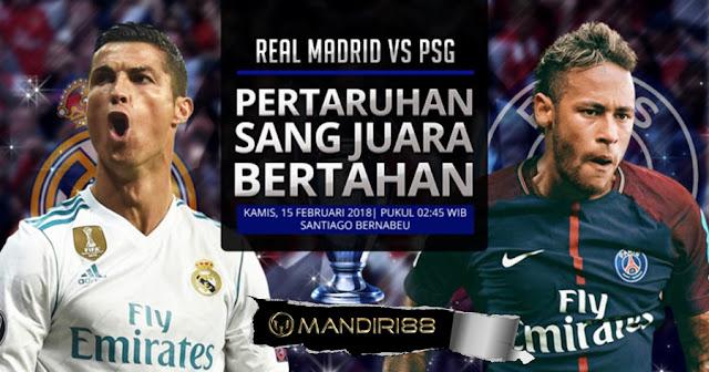 Prediksi Real Madrid Vs Paris Saint-Germain, Kamis 15 February 2018 Pukul 02.45 WIB @ SCTV