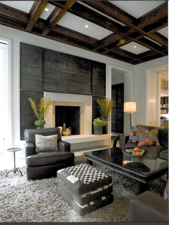 Salas con techos modernos   ideas de salas con estilo