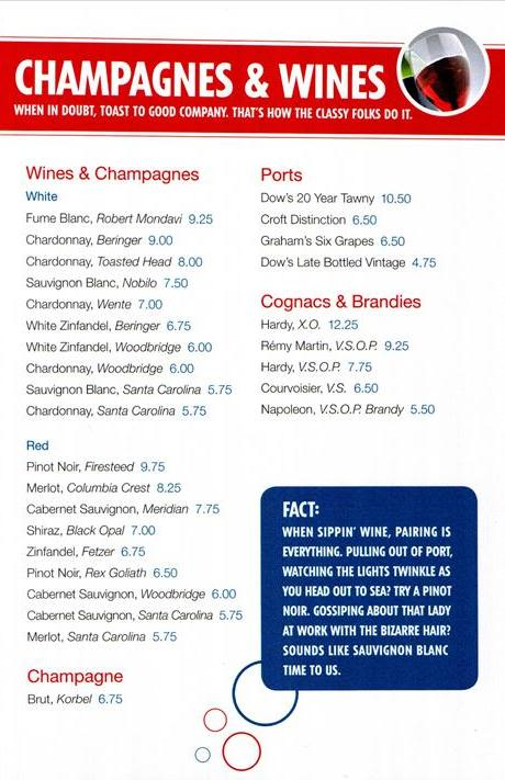Military Cruise Deals Carnival Cruise Line S Drink Menu