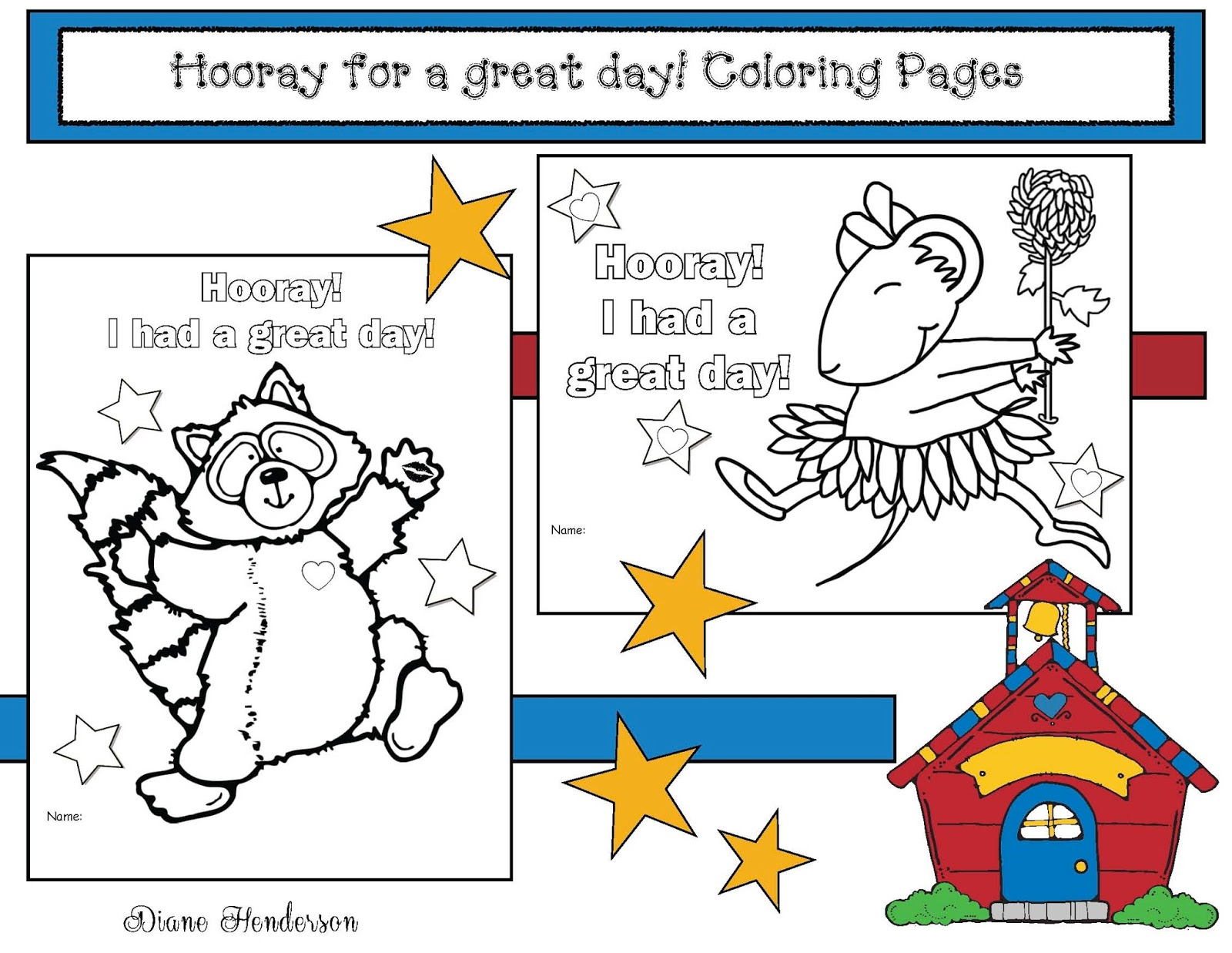 Hooray For A Great Day Back To School Color Me