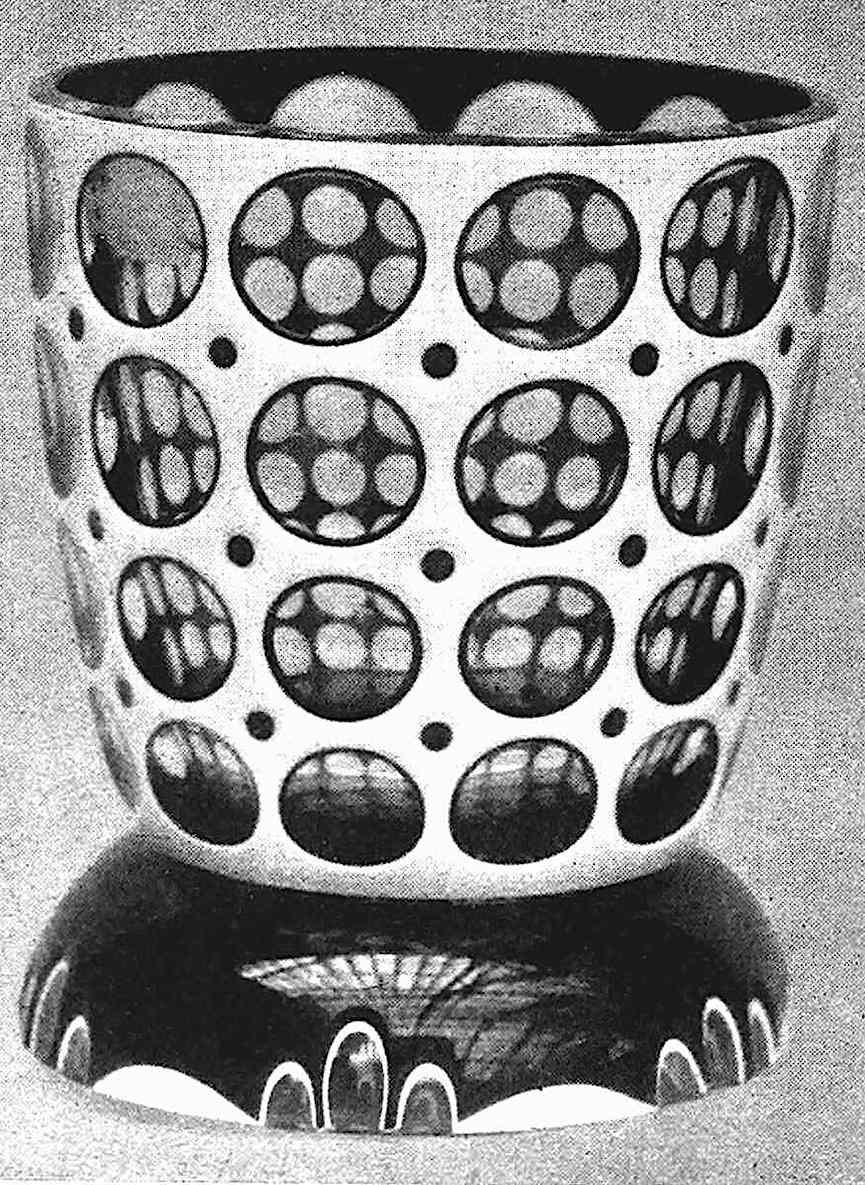a photograph of 1916 art glass