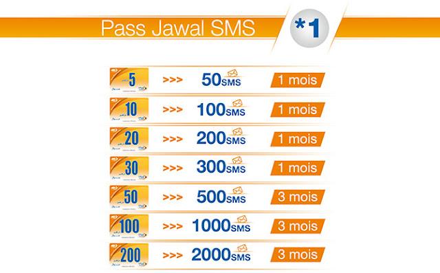 عرض الرسائل القصيرة sms اتصالات المغرب