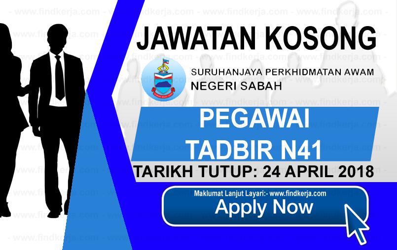 Jawatan Kerja Kosong Suruhanjaya Perkhidmatan Awam Negeri Sabah logo www.ohjob.info april 2018