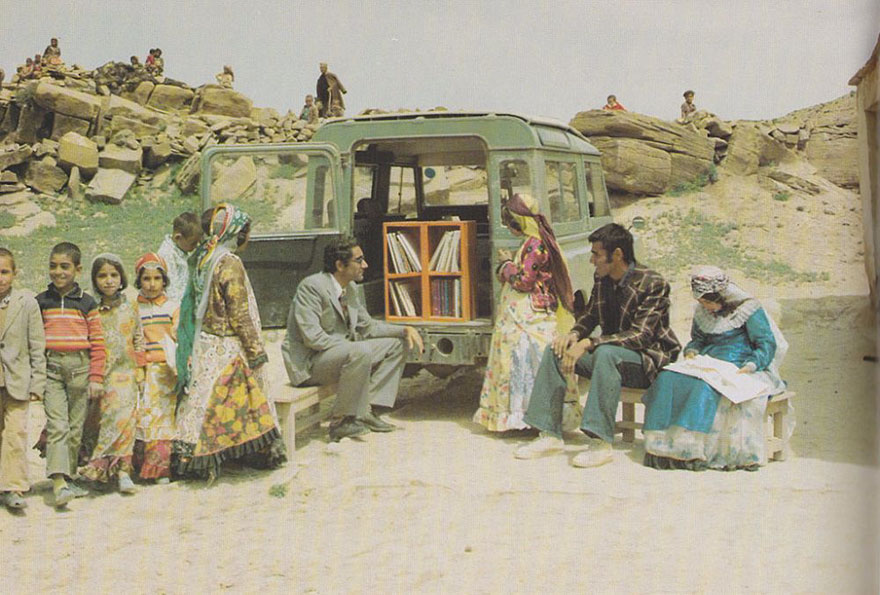 Before Amazon, We Had Bookmobiles 15+ Rare Photos Of Libraries-On-Wheels - A Mobile Library In Kurdistan, Iran, 1970