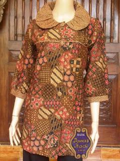 baju batik kerja wanita kombinasi