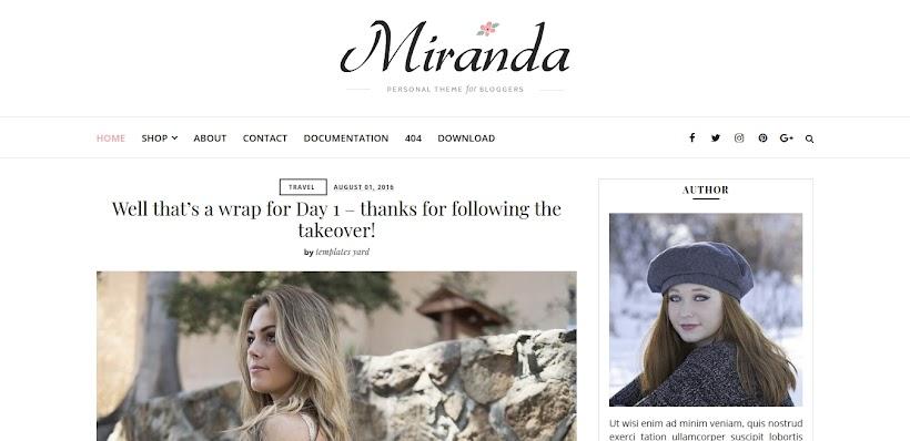 Miranda Free Blogger Template