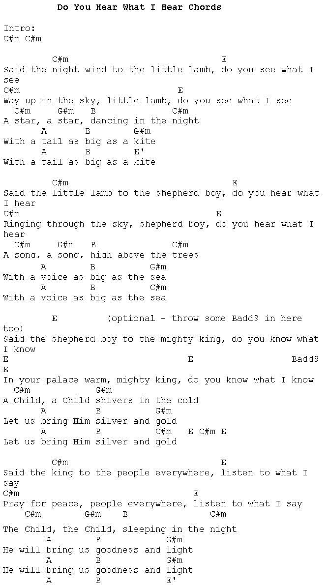 Christmas Carols   Lyrics and History Do You Hear What I Hear