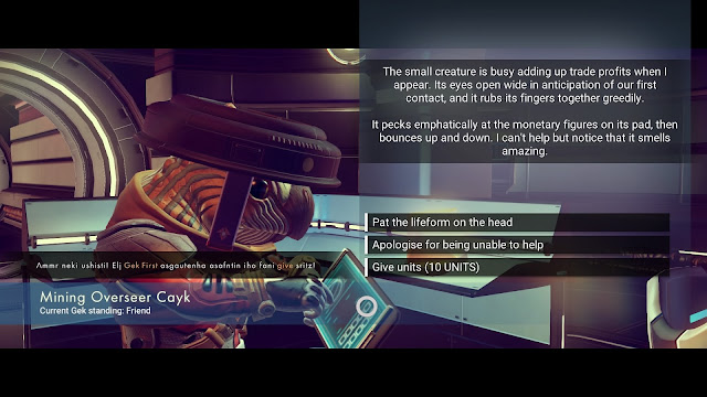 Review – No Man's Sky gek speech