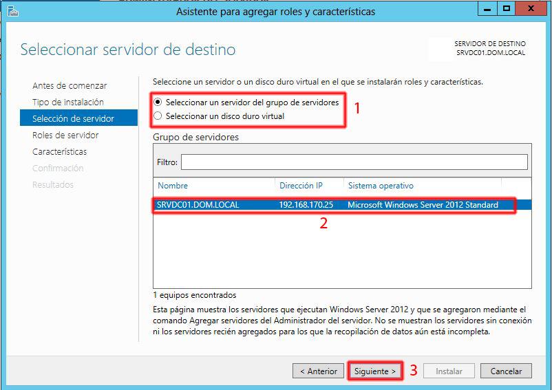 Pantallazos.es: Windows 2012: Instalar Servicio de DHCP.