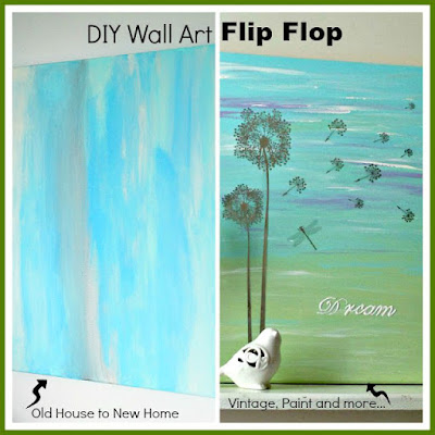 diy canvas painting made with dollar store rub ons