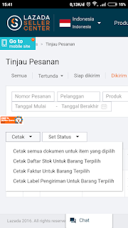 Mencetak Invoice Lazada melalui Android