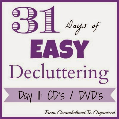Day 11: CD's or DVD's {31 Days of Easy Decluttering} | From