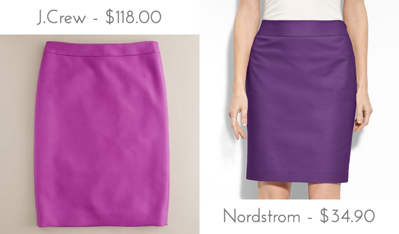 3b04619bb9 Über Chic for Cheap: Look for Less: J.Crew Double-Serge Pencil Skirt
