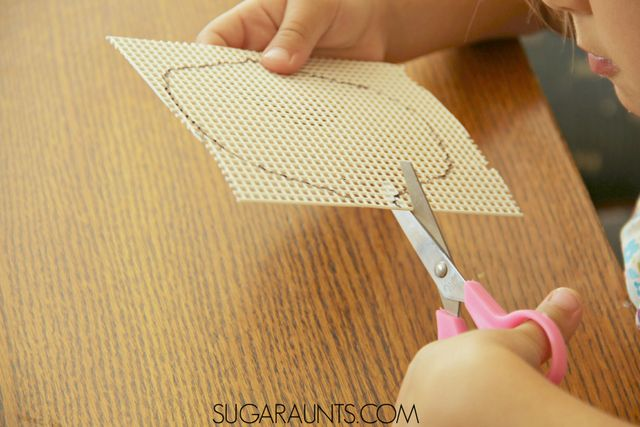 Fall Leaf Art for second grade (or any age!). Kids can create this fine motor fall leaf craft and work on many skills like math, patterns, symmetry, homemaking/life skills, and more.