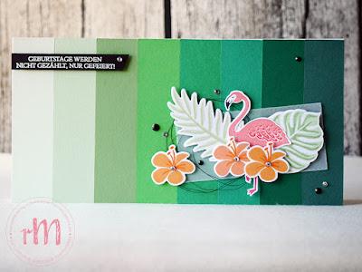 Stampin' Up! rosa Mädchen Kulmbach: Tropisches  Geburtstagsset mit Pop of Paradise, Traumhaft Tropisch, Tasche voller Sonnenschein und Geburtstagsmix