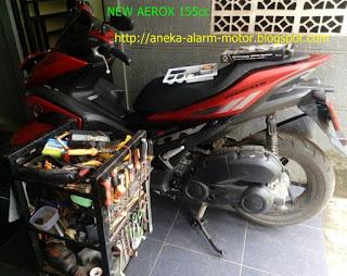 Cara pasang alarm motor pada Yamaha Aerox 155cc