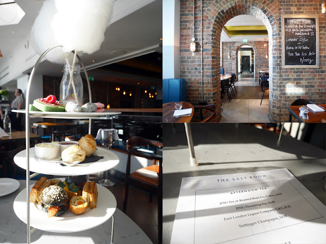 Interior and Afternoon tea at The Salt Room Brighton