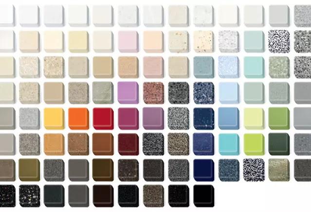 Cartela de cores do corian