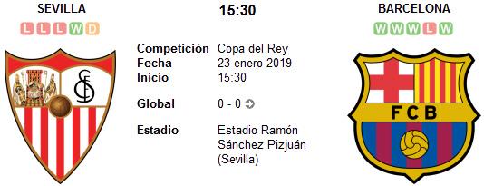 Sevilla vs Barcelona en VIVO