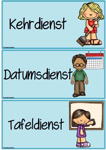 Ordnungsdienst klassenzimmer  Grundschul-Ideenbox: Klassenraumorganisation: Dienste - Teil 1