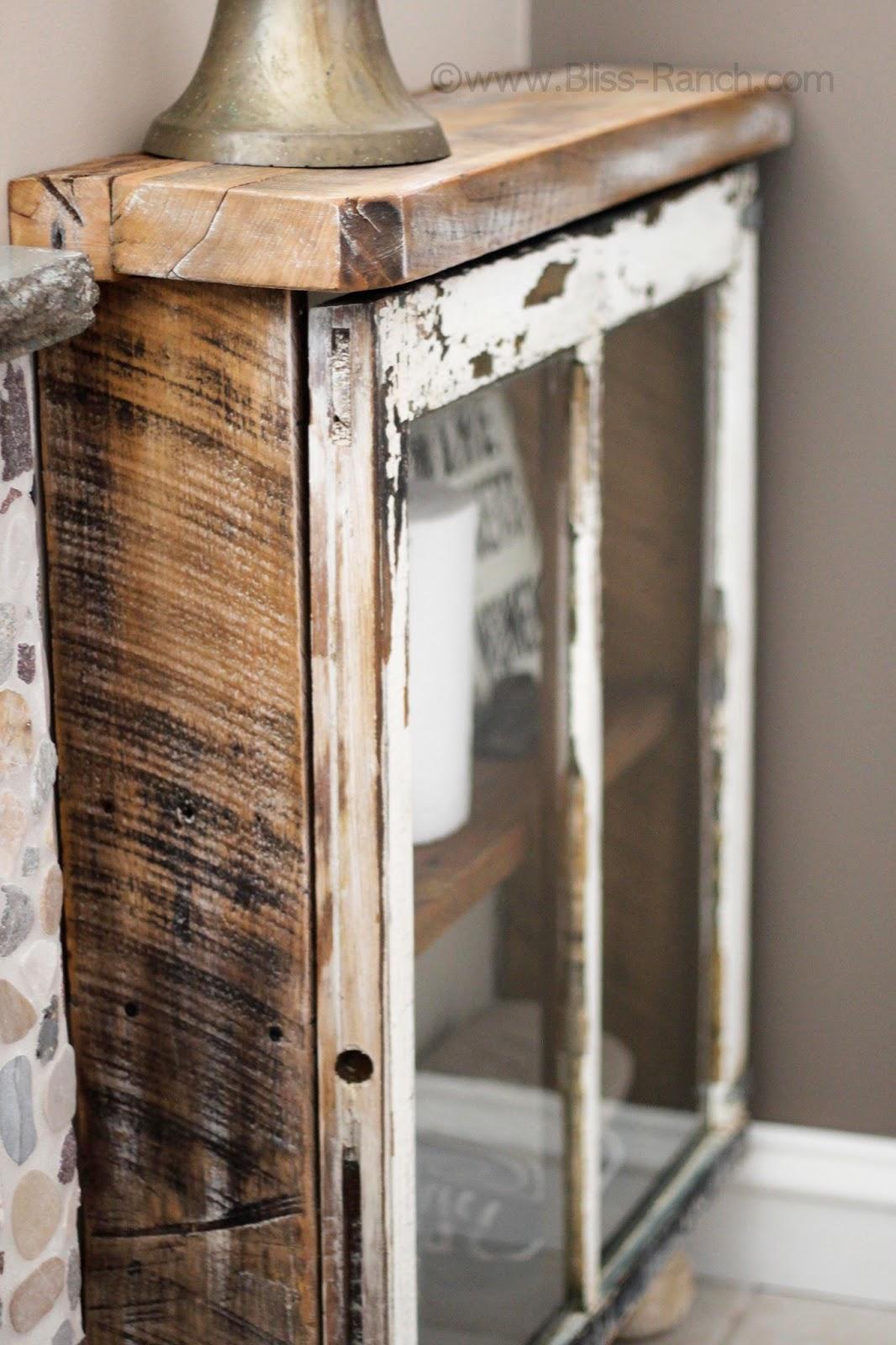 Bliss Ranch: Junkers United Barn Wood Window Cabinet