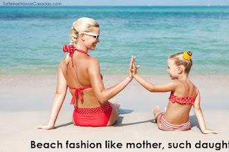 Beach fashion like mother, such daughter | Trend summer beach fashion