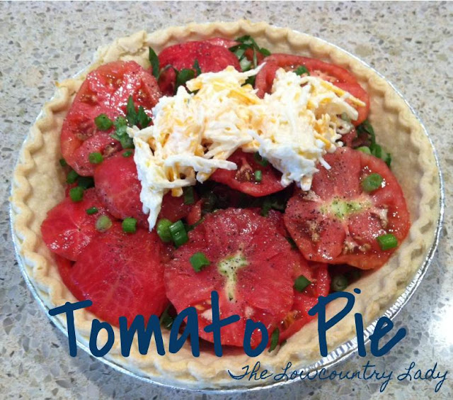 Tomato Pie and Tomato Pie Burgers | The Lowcountry Lady