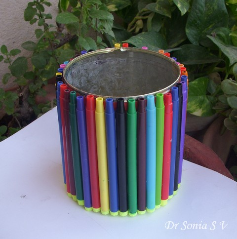 pen stand craft ideas cards crafts projects recycling craft pen stand 5148