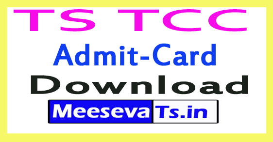 TS TCC Exam Hall Tickets Download
