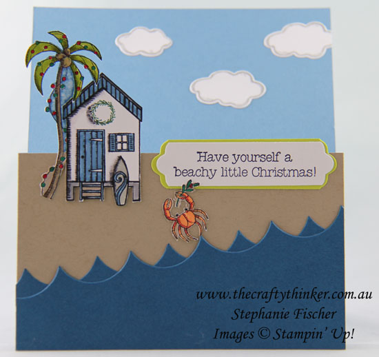 #christmascard, #cardmaking, #stampinup, Beachy Little Christmas, Fancy Fold, #thecraftythinker, Stampin' Up Australia Demonstrator, Stephanie Fischer, Sydney NSW