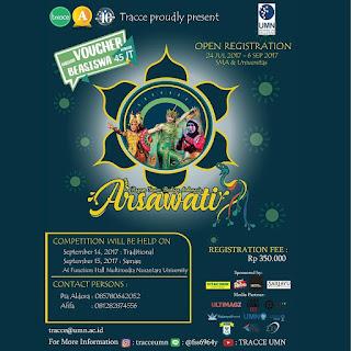 Lomba Tari Arsawati TRACCE 2017 | Univ. Multimedia Nusantara | SMA-Mahasiswa Sederajat