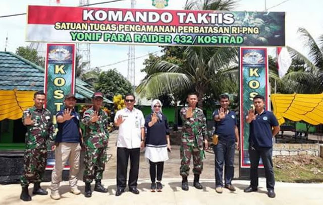 TIngkatkan Kerjasama BNN dan TNI, Moh Abdul Kadir Kunjungi Pos Perbatasan RI-PNG