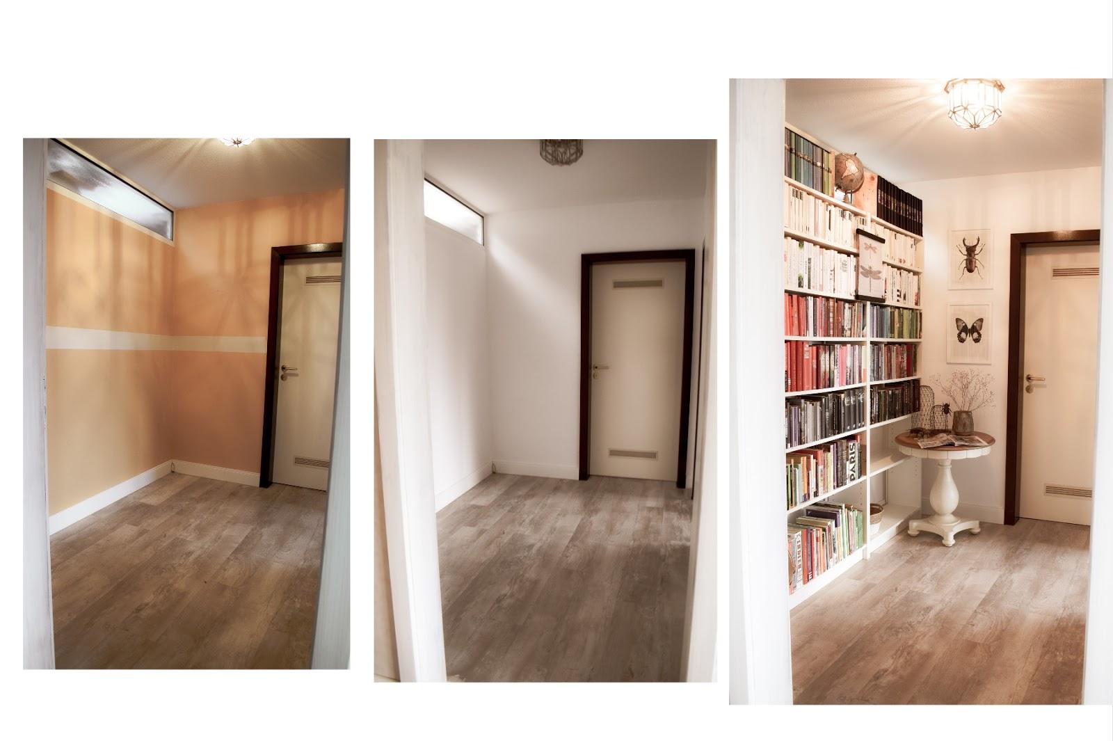 Renovierung Vorher Nachher Bücherregale ordnen und schön dekorieren. Dekotipps Ordnung Bücher Regale Bibliothek