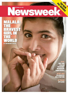 Malala Yousafzai, the teenage girl shot by the Taliban for promoting girls' education