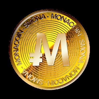 暗号通貨モナコインのフリー素材(金貨ver)