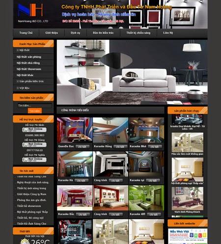thiết kế web kiến trúc