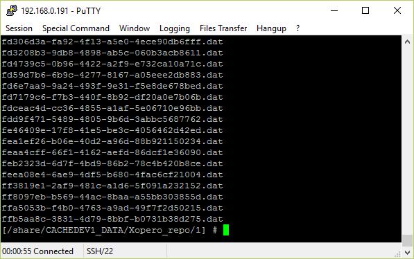 Zawartość repozytorium backupów Xopero