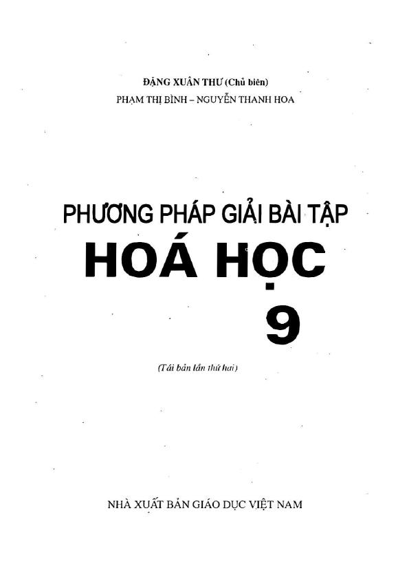 Phương pháp giải bài tập Hóa học 9 – Đặng Xuân Thư