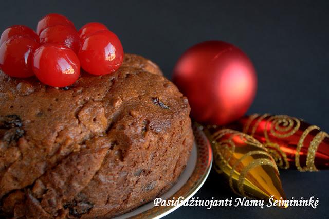 RECEPTAS: Daivos kalėdinis pyragas (trumpo brandinimo)
