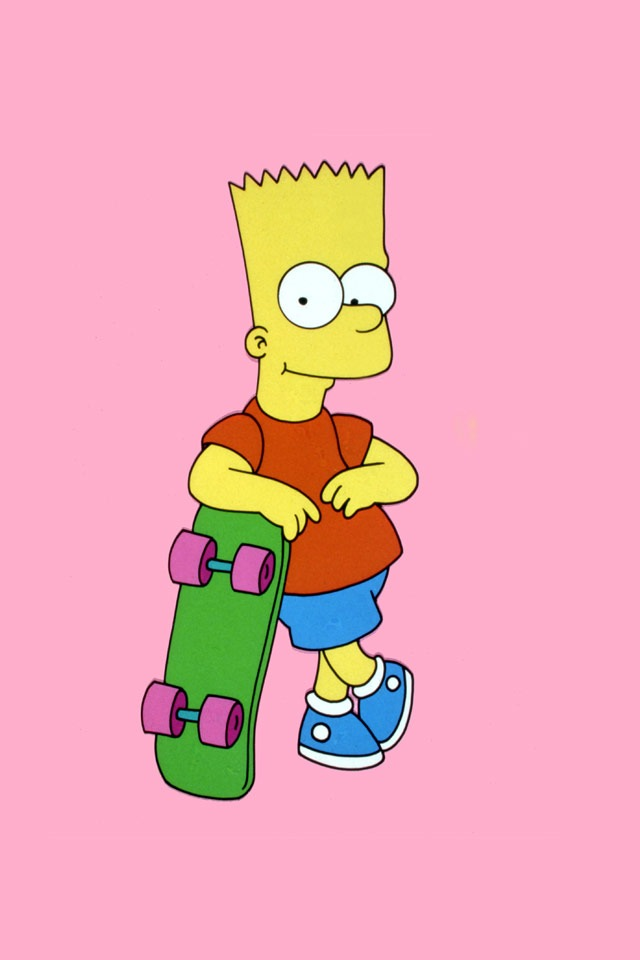 iPhone Retina Display Wallpapers Bart Simpson Skateboarding Retina Background Pictures