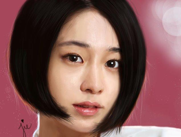Model Rambut Asymmetric Ala Lee Min Jung