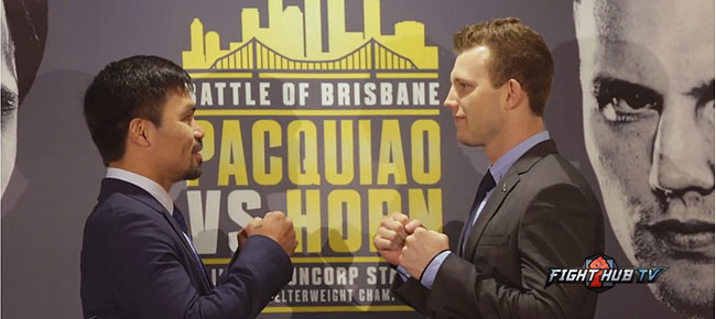 Manny Pacquiao vs. Jeff Horn - FACE OFF (VIDEO)