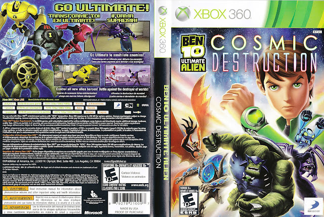 Capa xBox360 BEN 10 ULTIMATE ALIEN COSMIC DESTRUCTION