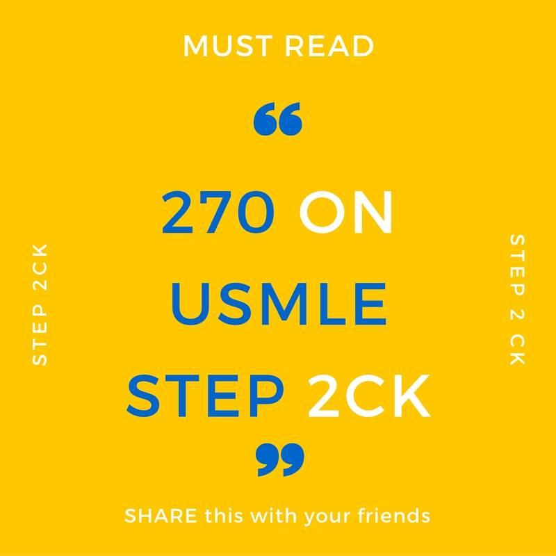 USMLE Experiences, Tips & Motivation!: USMLE Step 2 Experience: 270