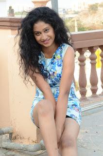 Actress Priyankha Stills in Floral Short Dress at Golmal Gullu Movie Pressmeet 0286.JPG