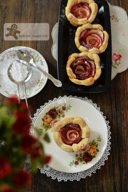 French apple roses tart Barefoot Contessa