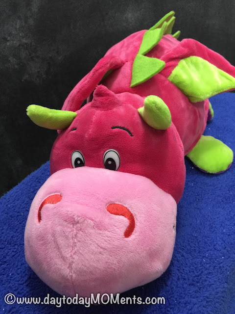 Pink dragon stuffed toy